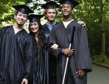 4 university students on campus