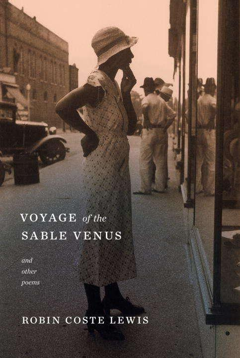Collection sample book cover Voyage of the Sable Venus, woman in white dress looking into a window
