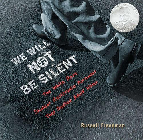 Collection sample book cover We Will Not be Silent, grey background with legs walking away
