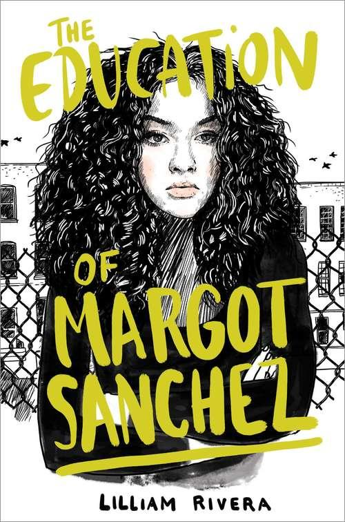 Collection sample book cover The Education of Margot Sanchez, woman with arms folded wearing a black shirt