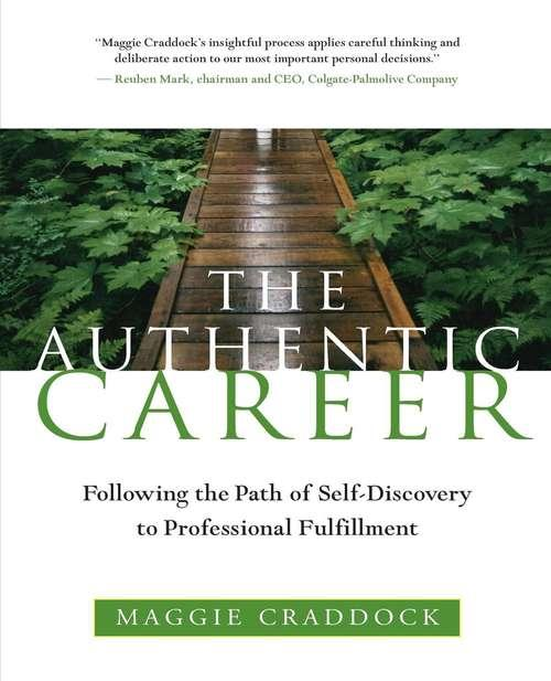 Collection sample book cover The Authentic Career, wooden path surrounded by green brush