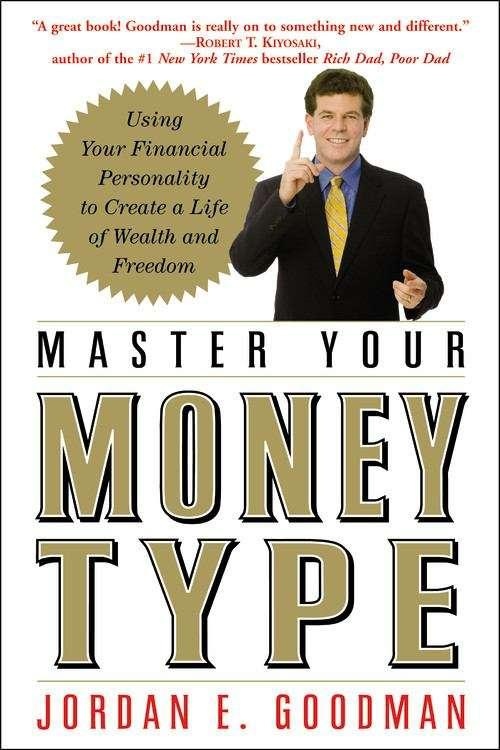 Collection sample book cover Master Your Money Type, man in suit pointing at the reader