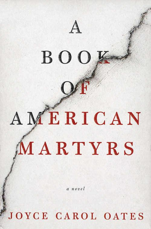 Collection sample book cover A Book of American Martyrs, white background with black fault line on the diagonal
