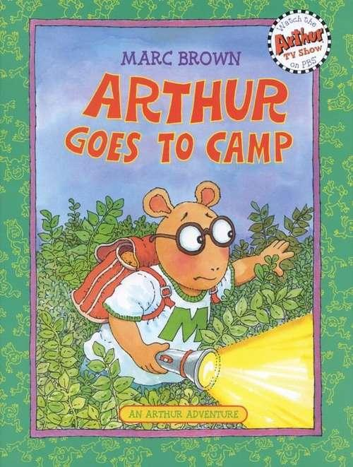 Collection sample book cover Arthur Goes to Camp, Arthur in the bushes
