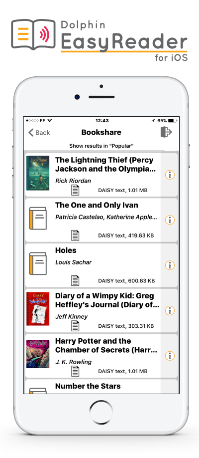 Dolphin Easy Reader for iOS logo and screenshot