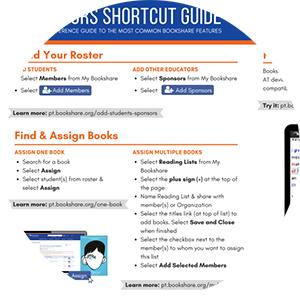 Educator shortcut guide screenshot.