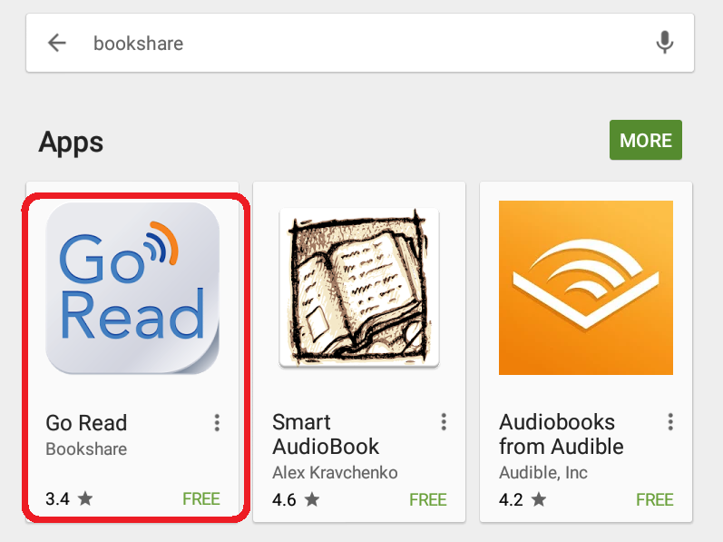 An image of Go Read's icon as displayed in the Google Play Store.
