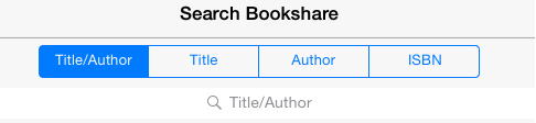 Screenshot of Search Bookshare page. Search Bookshare by: Title/Author, Title, Author, and ISBN. Browse Bookshare by: Latest, Popular, Categories, and Periodicals.