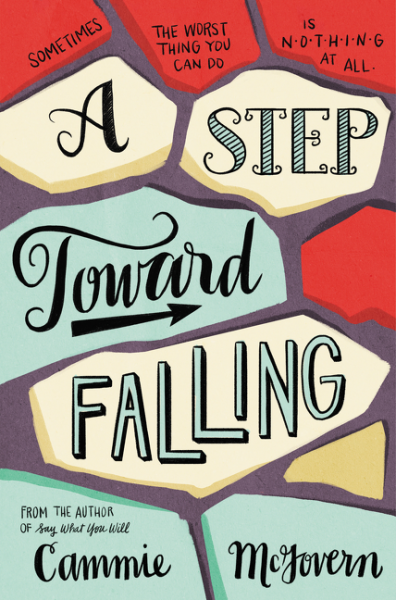 Book cover of A Step Toward Falling with picture of pavement stones