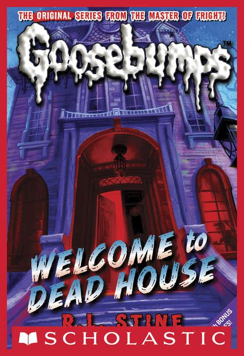 Collection sample book cover Welcome to Dead House, spooky mansion